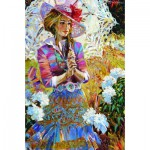Puzzle  Gold-Puzzle-61215 Girl with Open Umbrella