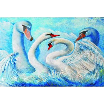 Puzzle Gold-Puzzle-61222 Swans