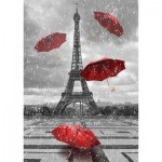 Puzzle  Gold-Puzzle-61383 Eiffel Tower with Flying Umbrellas