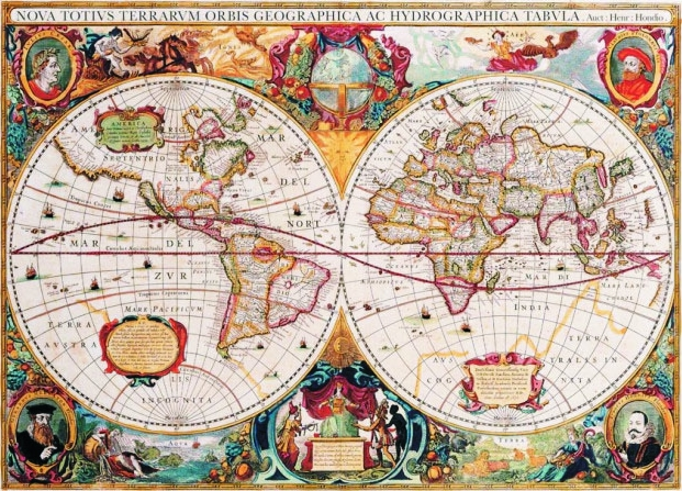Puzzle old world map gold puzzle 60096 1000 pieces jigsaw puzzles old world map gumiabroncs Choice Image