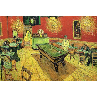 Puzzle Grafika-Kids-00027 Vincent van Gogh: The Night Cafe, 1888
