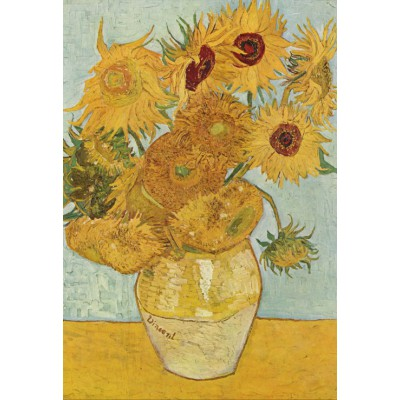 Puzzle Grafika-Kids-00031 XXL Pieces - Vincent van Gogh: Vase with 12 sunflowers, 1888