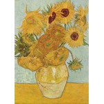 Puzzle  Grafika-Kids-00032 Vincent van Gogh: Vase with 12 sunflowers, 1888