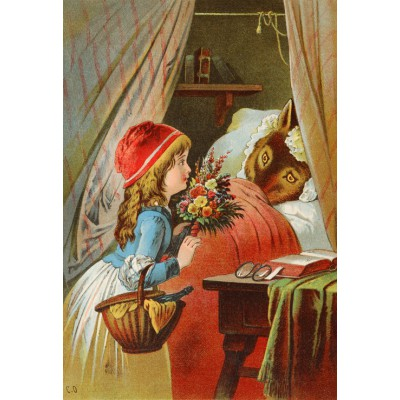 Puzzle Grafika-Kids-00119 XXL Pieces - Little Red Riding Hood, illustration by Carl Offterdinger