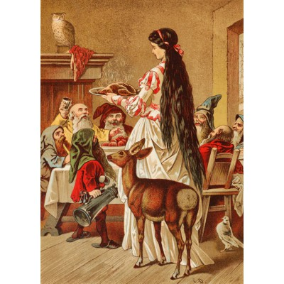 Puzzle Grafika-Kids-00123 Snow White, illustration by Carl Offterdinger