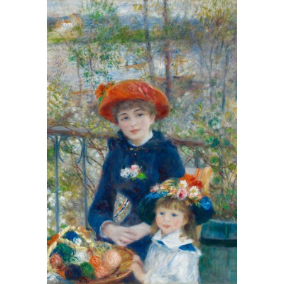 Puzzle Grafika-Kids-00166 Auguste Renoir: The Two Sisters, On the Terrace, 1881