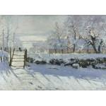 Grafika-Kids-00226 Magnetic Puzzles - Claude Monet : The Magpie, 1868-1869