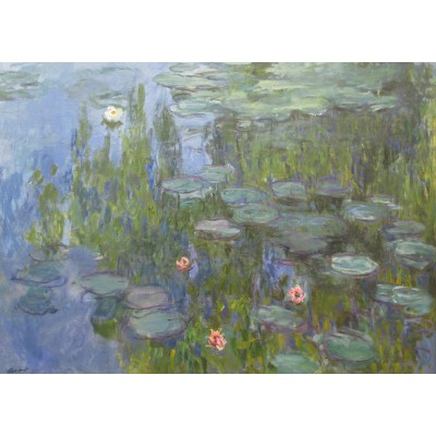 Puzzle Grafika-Kids-00227 Magnetic Pieces - Claude Monet: Nymphéas, 1915