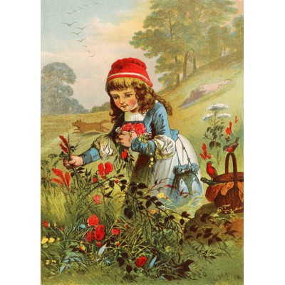 Puzzle Grafika-Kids-00234 Magnetic Pieces - Little Red Riding Hood, illustration by Carl Offterdinger