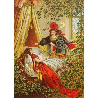 Puzzle Grafika-Kids-00238 Magnetic Pieces - Sleeping Beauty, illustration by Carl Offterdinger