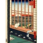 Puzzle  Grafika-Kids-00269 Utagawa Hiroshige : Rizières d'Asakusa et Festival Torinomachi, 1857