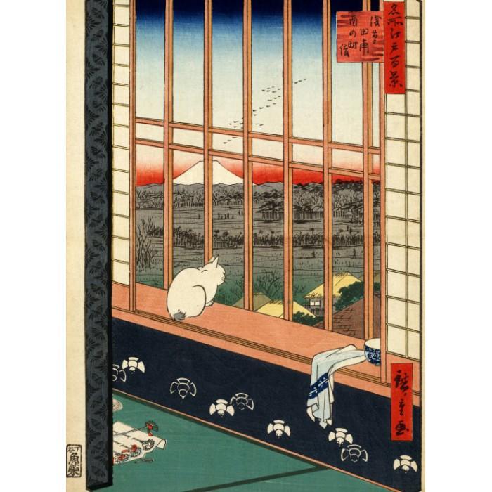 Utagawa Hiroshige : Rizières d'Asakusa et Festival Torinomachi, 1857