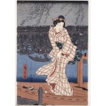 Puzzle  Grafika-Kids-00277 Utagawa Hiroshige: Evening on the Sumida River, 1847-1848