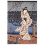Puzzle  Grafika-Kids-00280 Utagawa Hiroshige: Evening on the Sumida River, 1847-1848