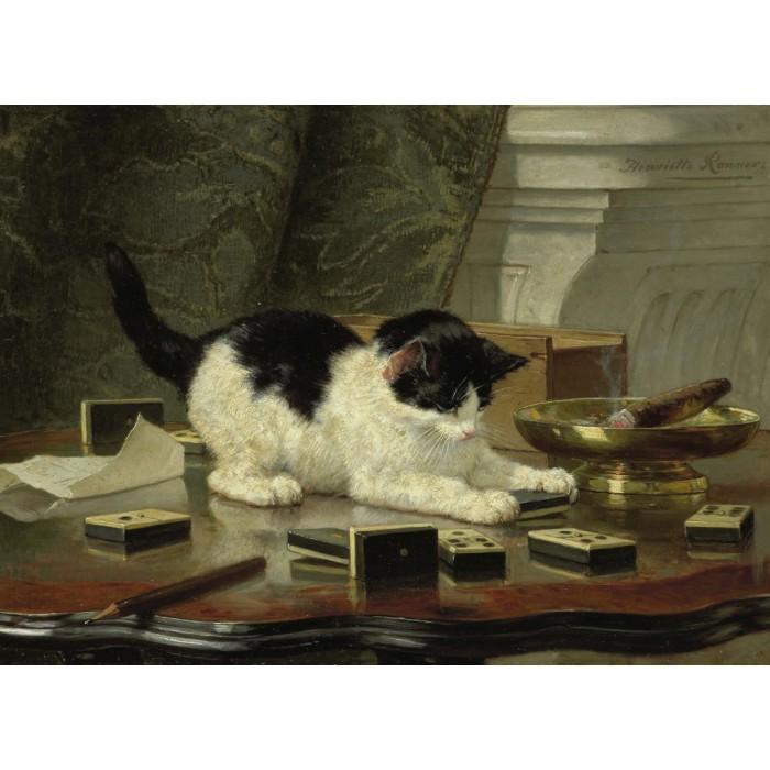 Henriette Ronner-Knip : Kitten's Game