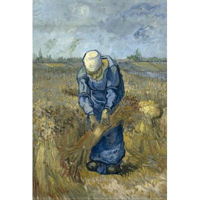 Puzzle Grafika-Kids-00299 Vincent van Gogh - Peasant woman binding sheaves (after Millet)