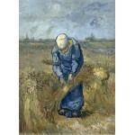 Puzzle  Grafika-Kids-00300 Magnetic Pieces - Vincent van Gogh - Peasant woman binding sheaves (after Millet)