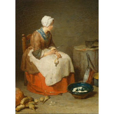 Puzzle Grafika-Kids-00308 Jean Siméon Chardin - The Kitchen Maid, 1738
