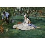 Puzzle  Grafika-Kids-00318 Edouard Manet - The Monet Family in Their Garden at Argenteuil, 1874
