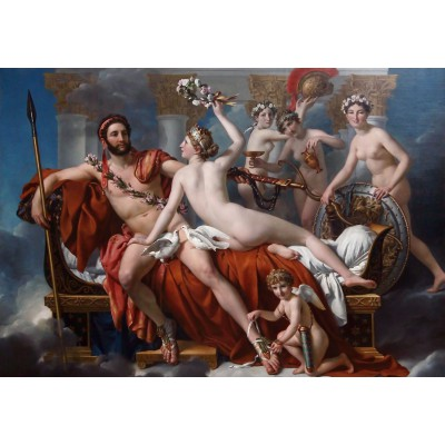 Puzzle Grafika-Kids-00370 Jacques-Louis David: Mars Being Disarmed by Venus, 1824