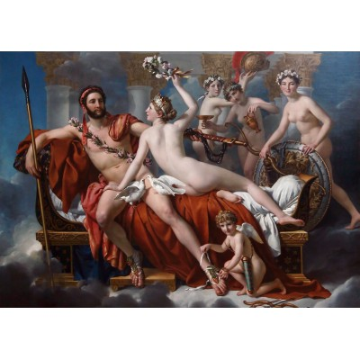 Puzzle Grafika-Kids-00371 Jacques-Louis David: Mars Being Disarmed by Venus, 1824