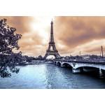 Puzzle  Grafika-Kids-00380 Eiffel Tower from Seine. Winter rainy day in Paris