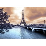 Puzzle  Grafika-Kids-00383 XXL Pieces - Eiffel Tower from Seine. Winter rainy day in Paris
