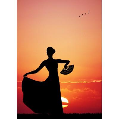 Puzzle Grafika-Kids-00392 Magnetic Pieces - Flamenco at Sunset