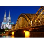 Puzzle  Grafika-Kids-00396 Cathedral and Hohenzollern Bridge - Cologne