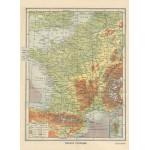 Puzzle  Grafika-Kids-00414 Map of France - Larousse, 1925