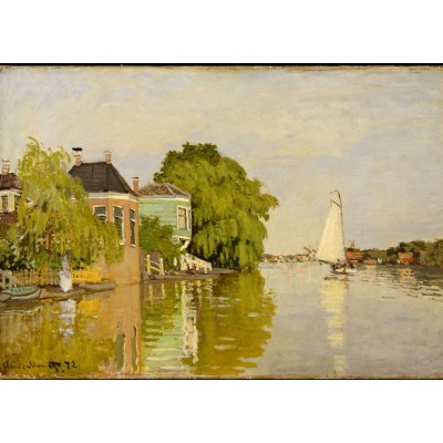 Puzzle Grafika-Kids-00483 Magnetic Pieces - Claude Monet: Houses on the Achterzaan, 1871