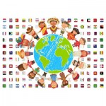 Puzzle  Grafika-Kids-00545 SOS MEDITERRANEE - Children of all Nations