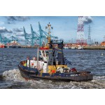 Puzzle  Grafika-Kids-00599 Tugboat in Antwerp