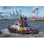 Puzzle  Grafika-Kids-00600 Tugboat in Antwerp