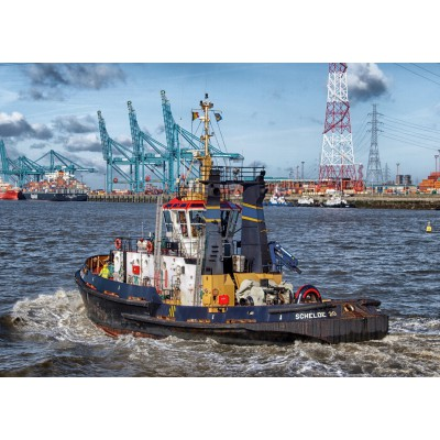 Puzzle Grafika-Kids-00601 Magnetic Pieces - Tugboat in Antwerp