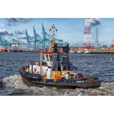 Puzzle Grafika-Kids-00602 XXL Pieces - Tugboat in Antwerp