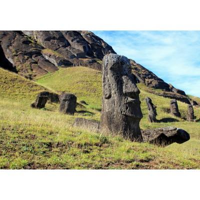 Puzzle Grafika-Kids-00626 Moai at Quarry, Easter Island
