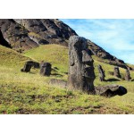 Puzzle  Grafika-Kids-00628 Magnetic Pieces - Moai at Quarry, Easter Island