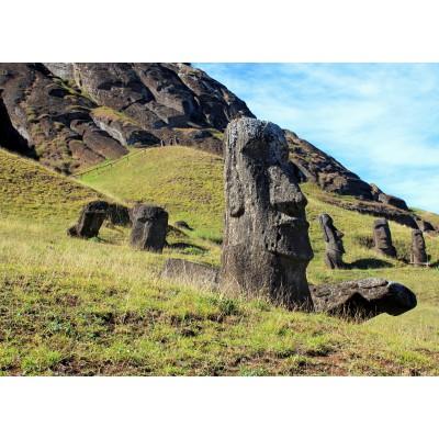 Puzzle Grafika-Kids-00628 Magnetic Pieces - Moai at Quarry, Easter Island