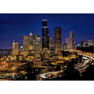 Puzzle Grafika-Kids-00679 Magnetic Pieces - Seattle by Night
