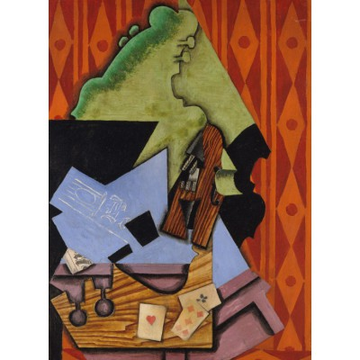 Puzzle Juan Gris Violin And Playing Cards On A Table
