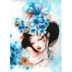 Puzzle  Grafika-Kids-00742 Magnetic Pieces - Misstigri: Blue Flowers