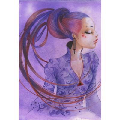 Puzzle Grafika-Kids-00757 XXL Pieces - Misstigri: Violette