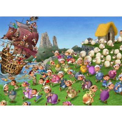 Puzzle Grafika-Kids-00844 François Ruyer: Pirates