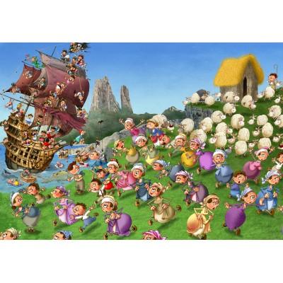 Puzzle Grafika-Kids-00845 François Ruyer: Pirates