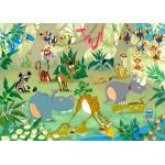 Puzzle  Grafika-Kids-00877 Magnetic Pieces - François Ruyer: Jungle
