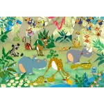 Puzzle  Grafika-Kids-00878 XXL Pieces - François Ruyer: Jungle