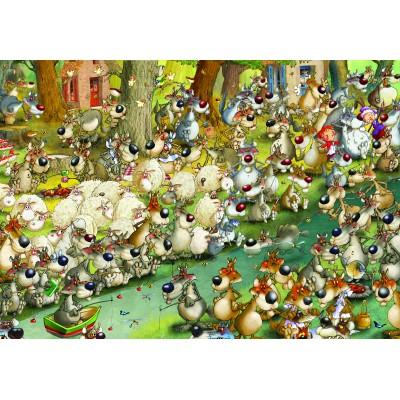 Puzzle Grafika-Kids-00915 François Ruyer: Wolves!