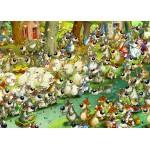 Puzzle  Grafika-Kids-00917 Magnetic Pieces - François Ruyer: Wolves!