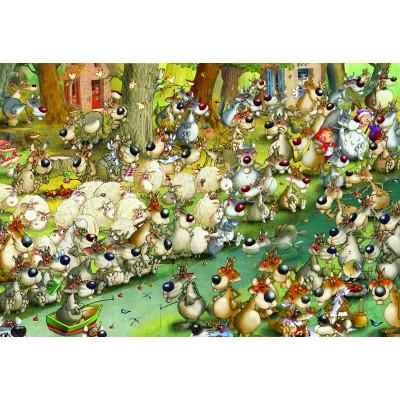 Puzzle Grafika-Kids-00918 XXL Pieces - François Ruyer: Wolves!